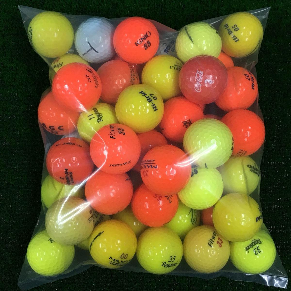 ブランド混合 カラー ロストボール 50個セット