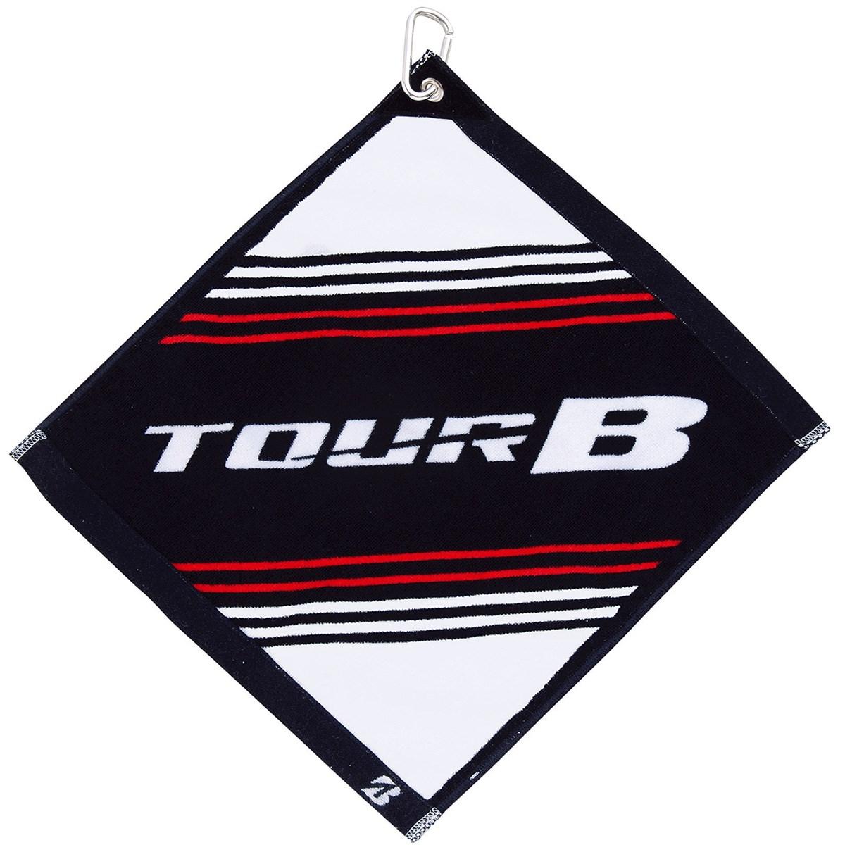 ブリヂストン TOUR B フック付きハンドタオル ホワイト/ブラック