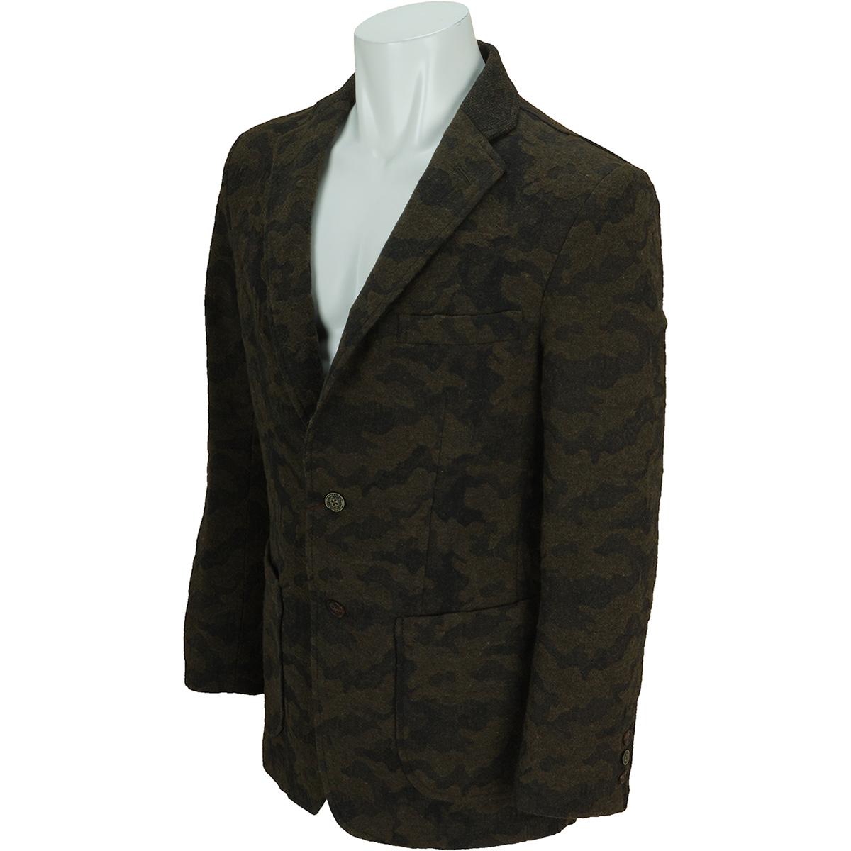 ウール迷彩二つ釦ジャケット