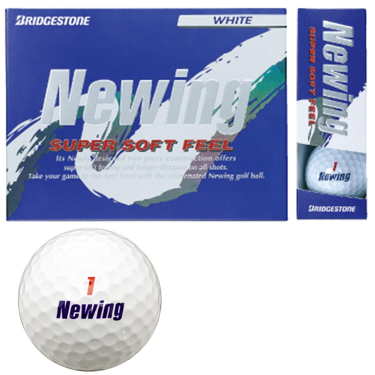 ブリヂストン NEWING ニューイング SUPER SOFT FEEL ボール 1ダース(12個入り) ホワイト