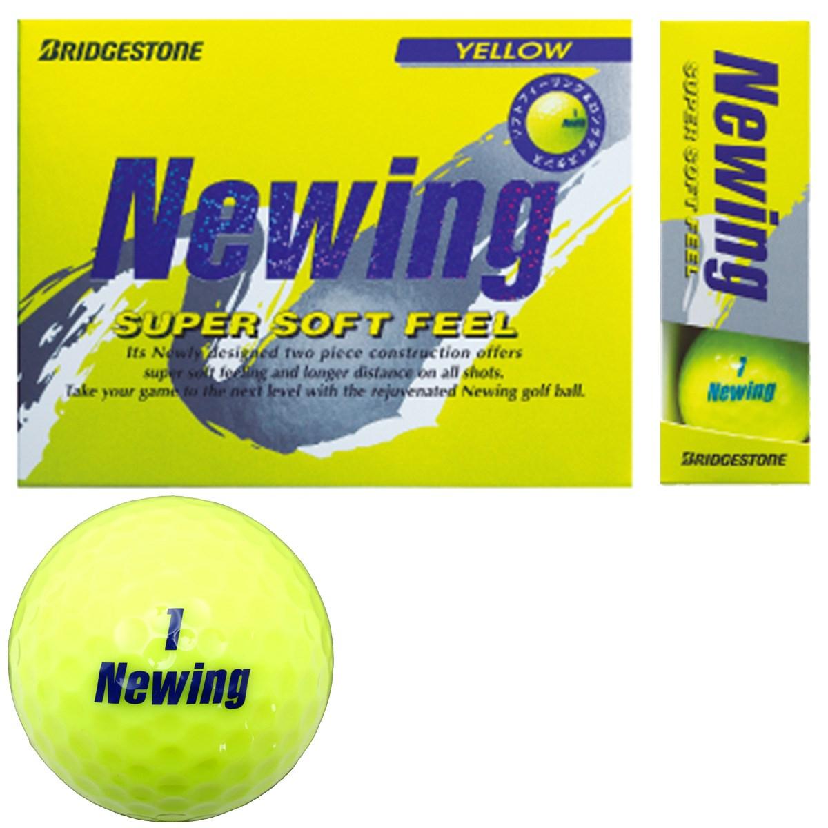 ブリヂストン NEWING ニューイング SUPER SOFT FEEL ボール 1ダース(12個入り) イエロー