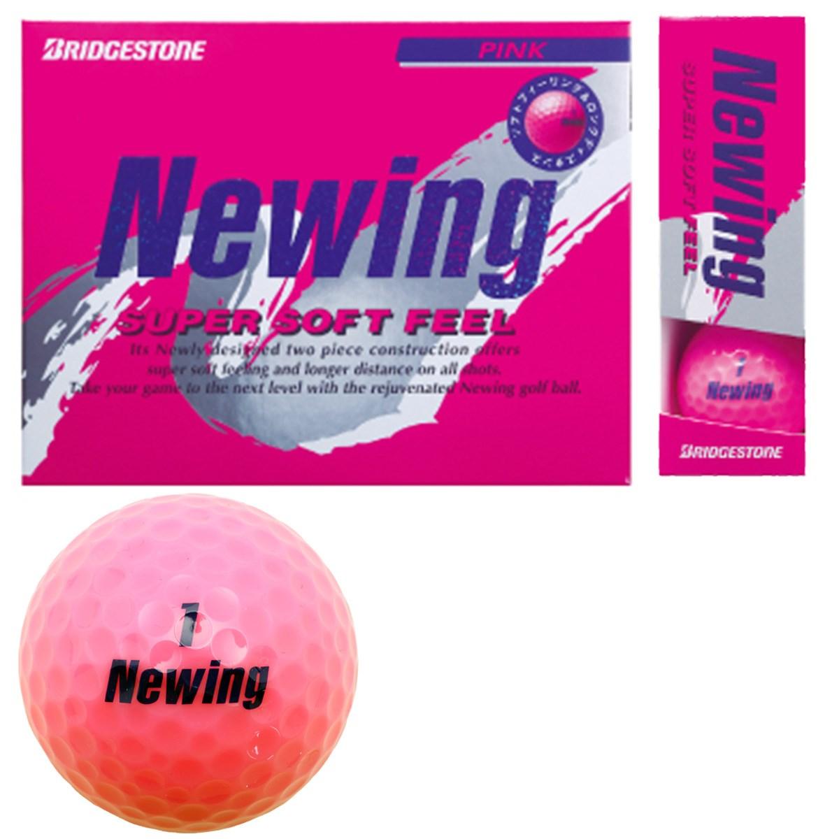 ブリヂストン NEWING ニューイング SUPER SOFT FEEL ボール 1ダース(12個入り) ピンク