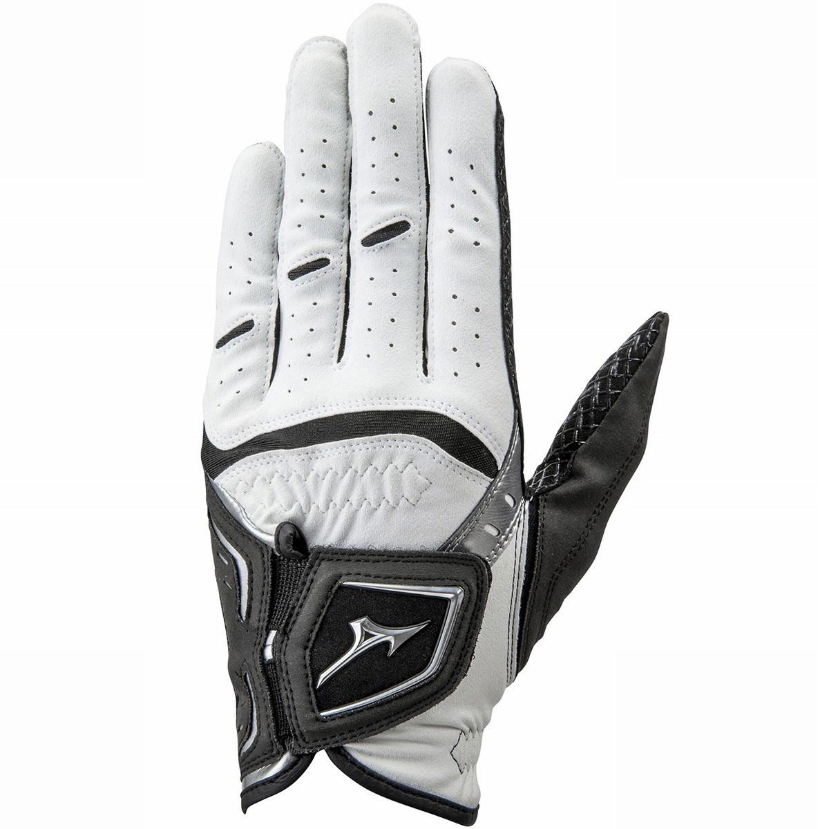 ミズノ MIZUNO OP W-GRIP グローブ 指先ショートタイプ 24cm 左手着用(右利き用) ホワイト/ブラック