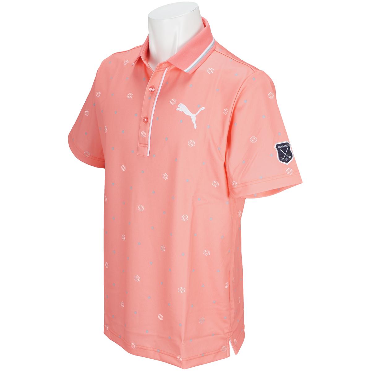 ドット半袖ポロシャツ