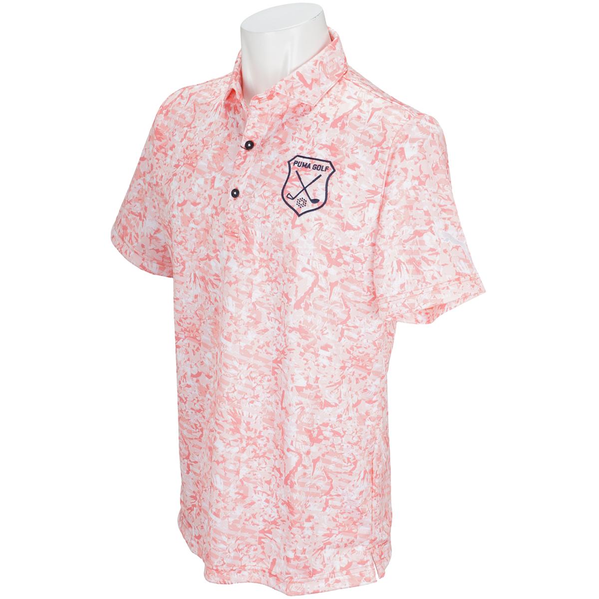 ボタニカル半袖ポロシャツ