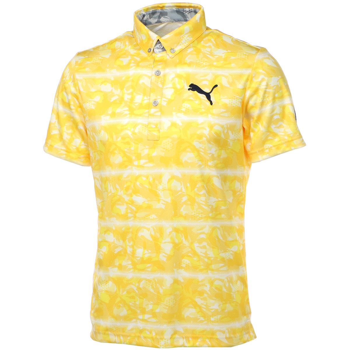 ウォーターストライプ半袖ポロシャツ