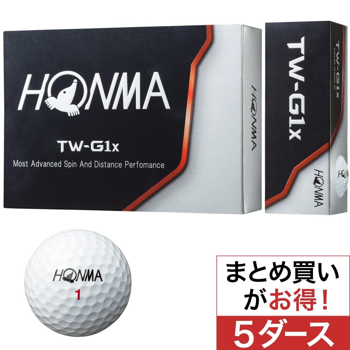 本間ゴルフ(HONMA GOLF) TW-G1x ボール 5ダースセット
