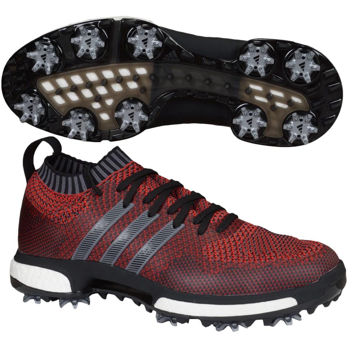 [値下げしました] アディダス adidas ツアー360 ニットシューズ レッド/コアブラック/グレーファイブ メンズ ゴルフ