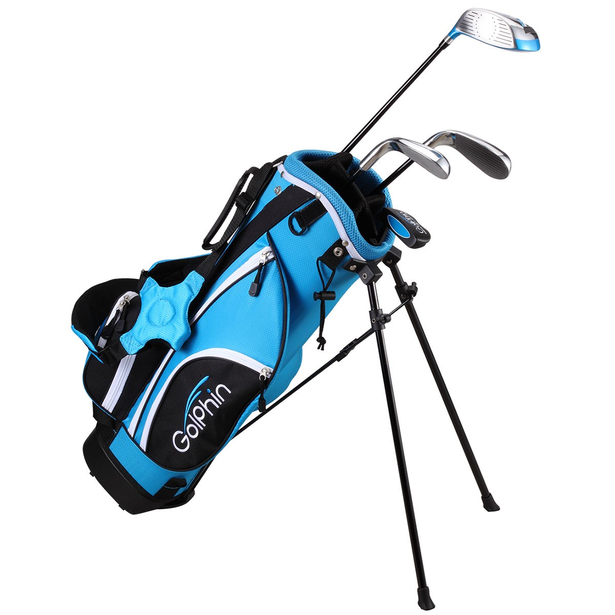 ダイヤゴルフ DAIYA GOLF ゴルフィン クラブセット728(4本セット) 7-8歳用 UNI ブルー ジュニア