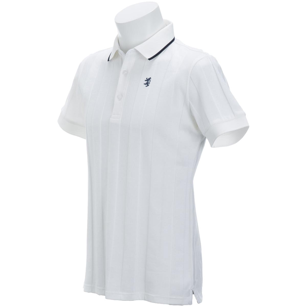 リンクスストライプ 半袖ポロシャツ