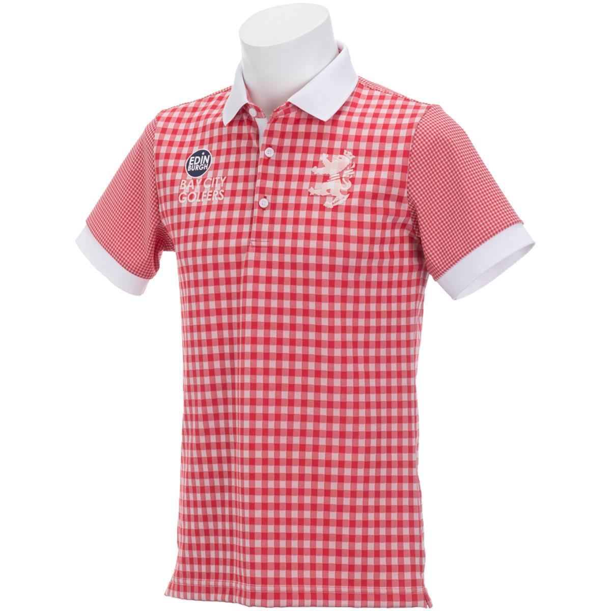 ギンガムミックス 半袖ポロシャツ