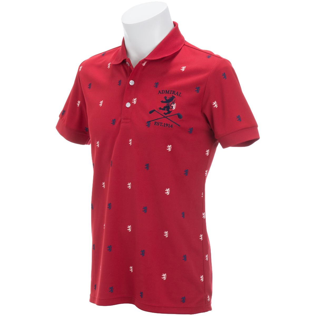 総柄ランパント 半袖ポロシャツ