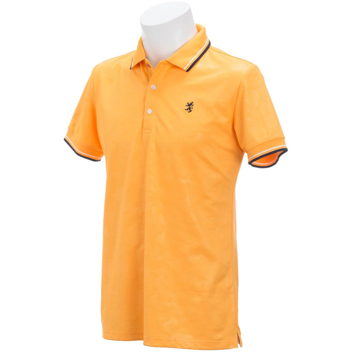 カモフラージュ エンボス 半袖ポロシャツ