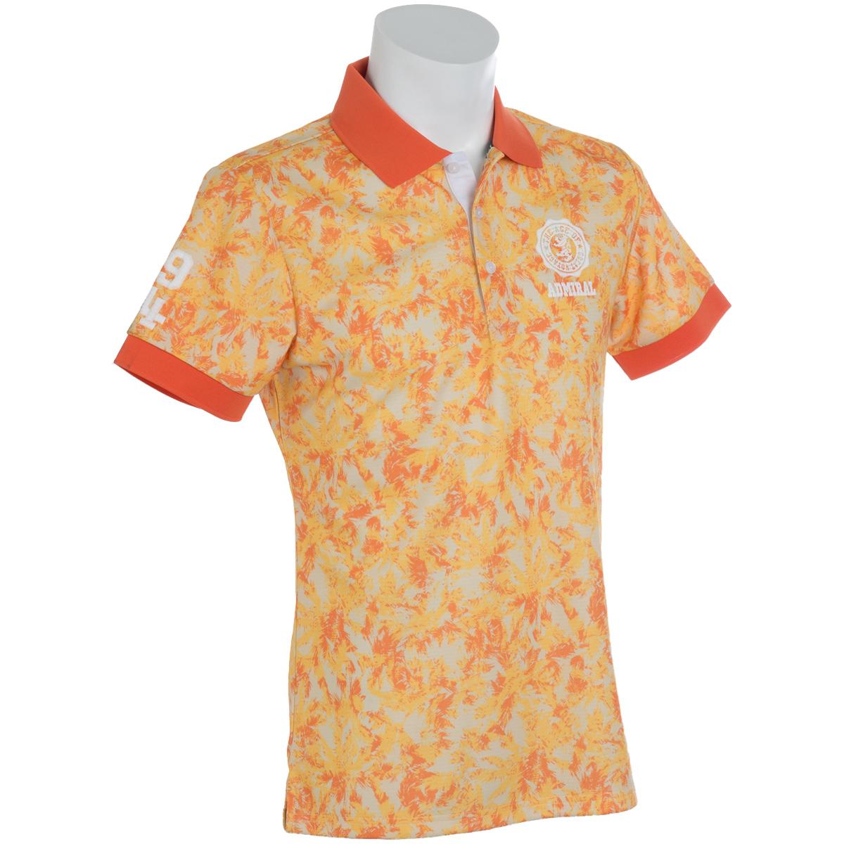 迷彩ヤシの木 半袖ポロシャツ