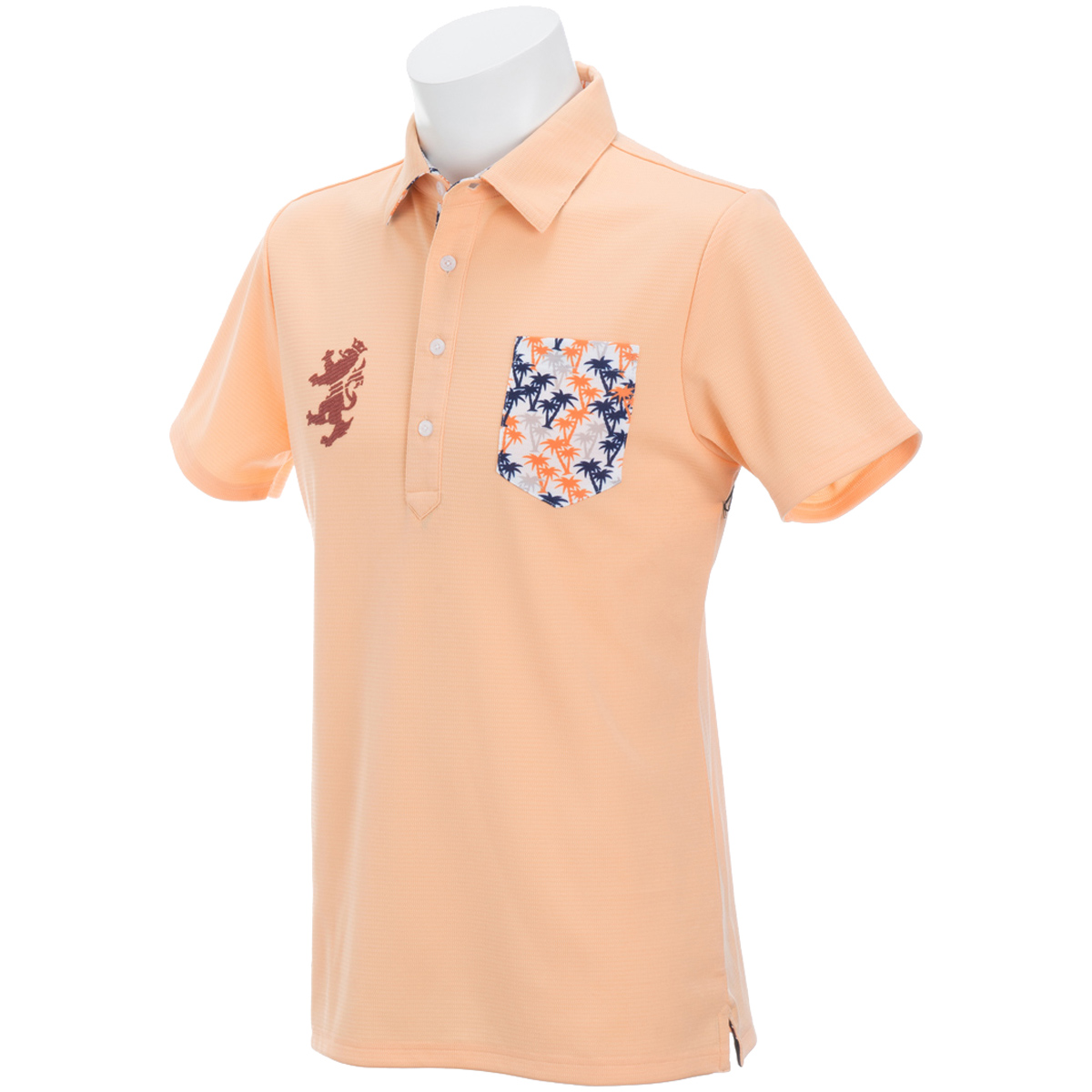 パーツ マイクロヤシの木 半袖ポロシャツ