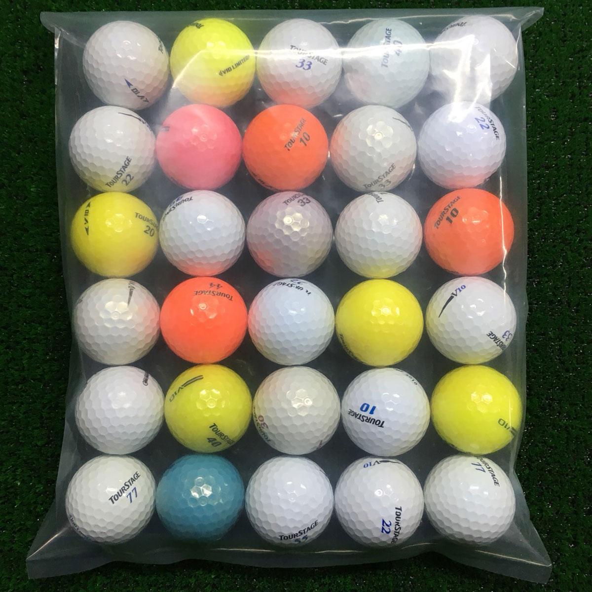 TOURSTAGE V10系シリーズ混合 ボール 30個セット