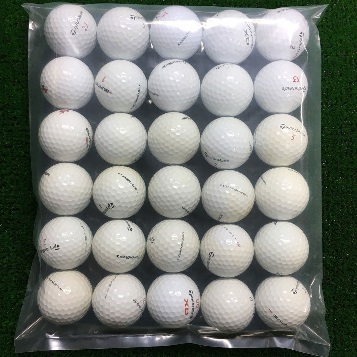 ロストボール テーラーメイド 混合 ボール 30個セット
