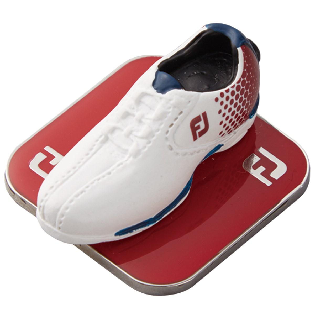 フットジョイ Foot Joy スタイル1 ボールマーカー ホワイト/レッド