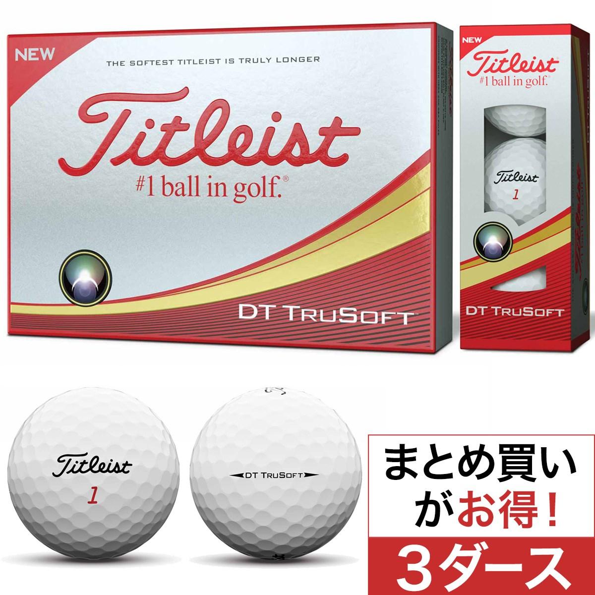 タイトリスト(Titleist) DT TRUSOFT ボール 2018年モデル 3ダース