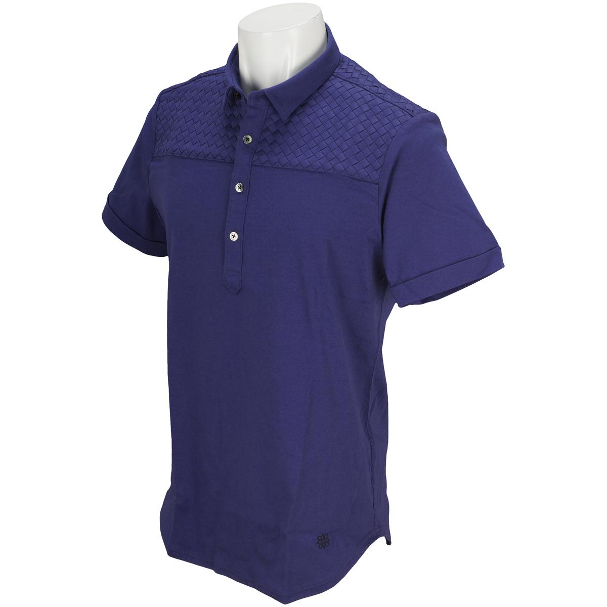 BLK強撚スムースイントレチャート 半袖ポロシャツ