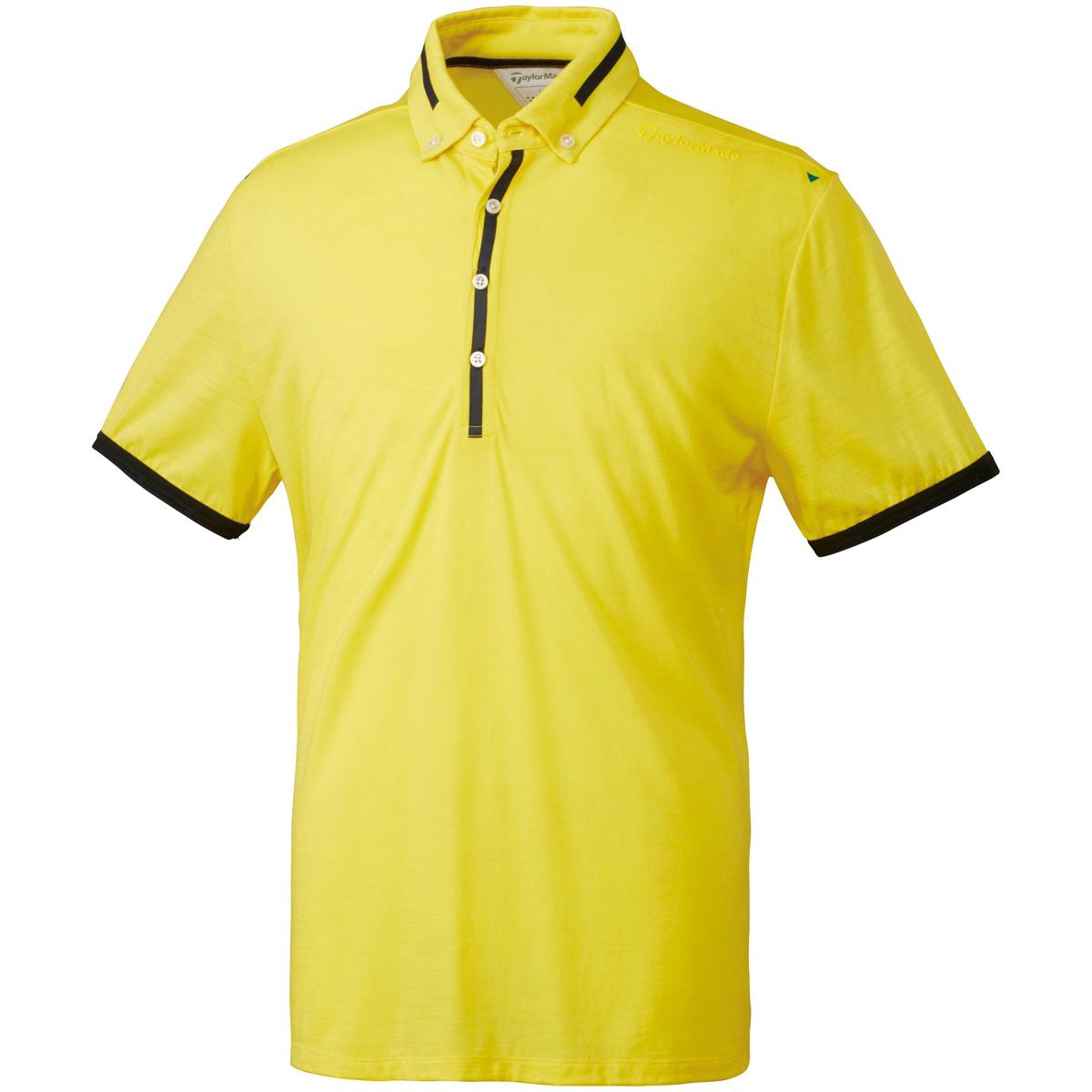 ストレッチ ブレスウールボタンダウン半袖ポロシャツ
