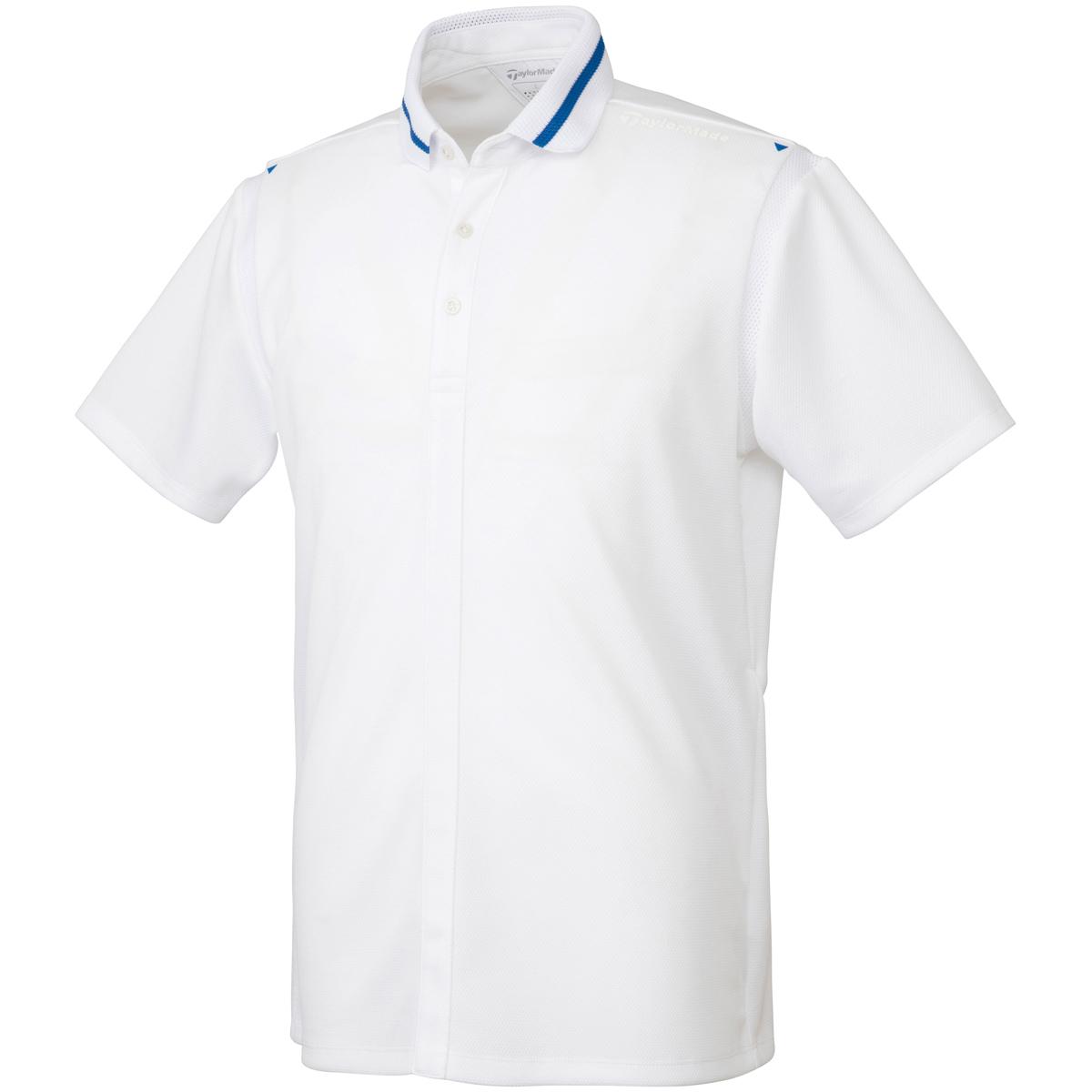 フェイクフルボタン半袖ポロシャツ