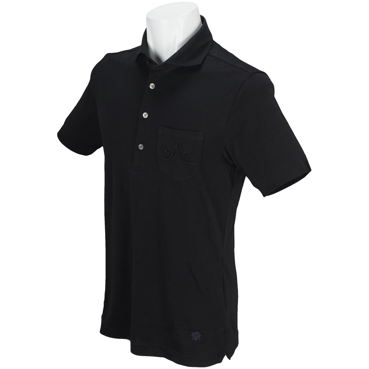 BLKスムースコード刺繍半袖ポロシャツ