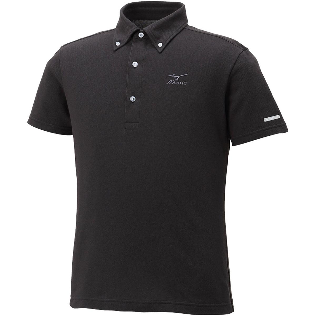 ハイドロ銀チタン 半袖ボタンダウンポロシャツ