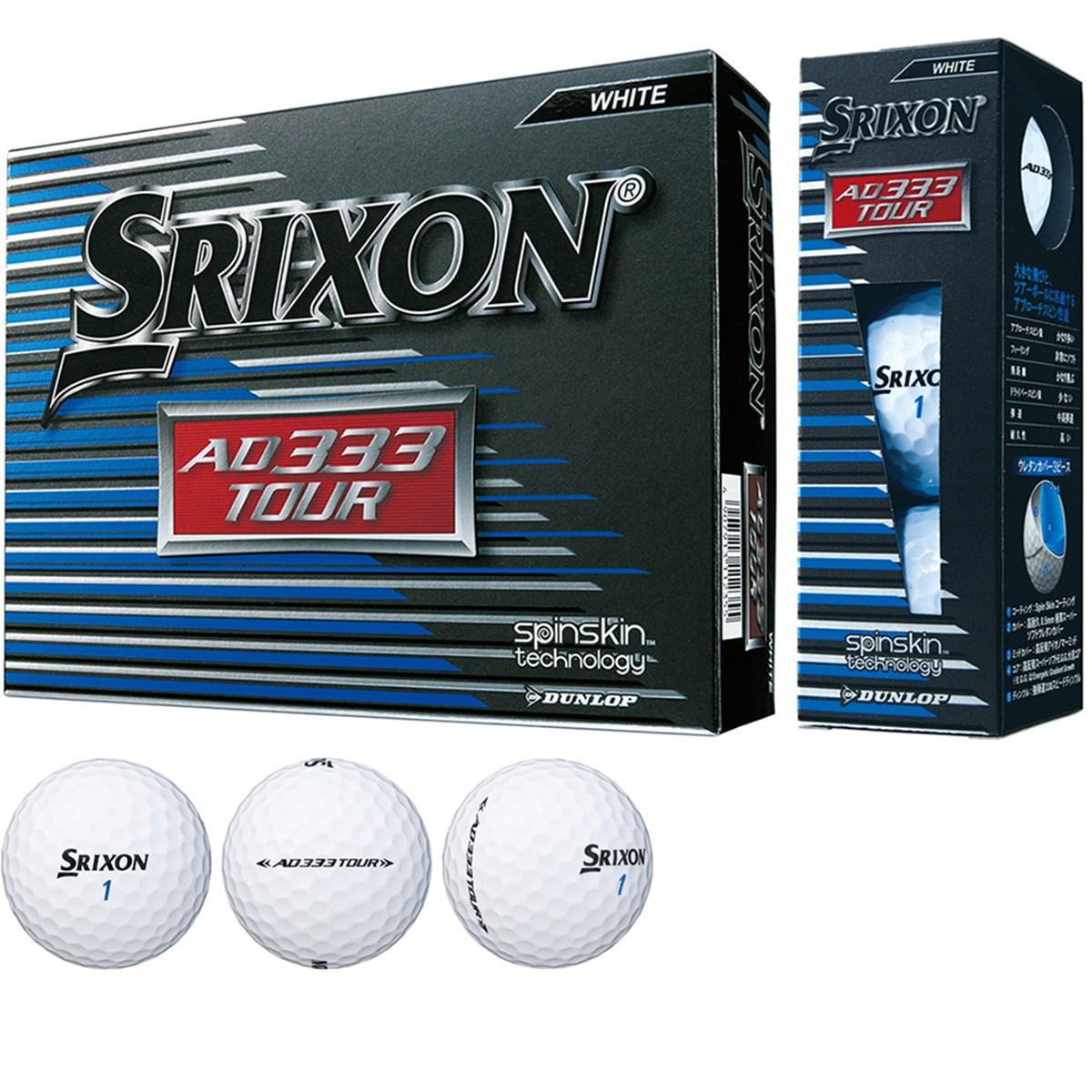 ダンロップ SRIXON スリクソン AD333 TOUR ボール 1ダース(12個入り) ホワイト