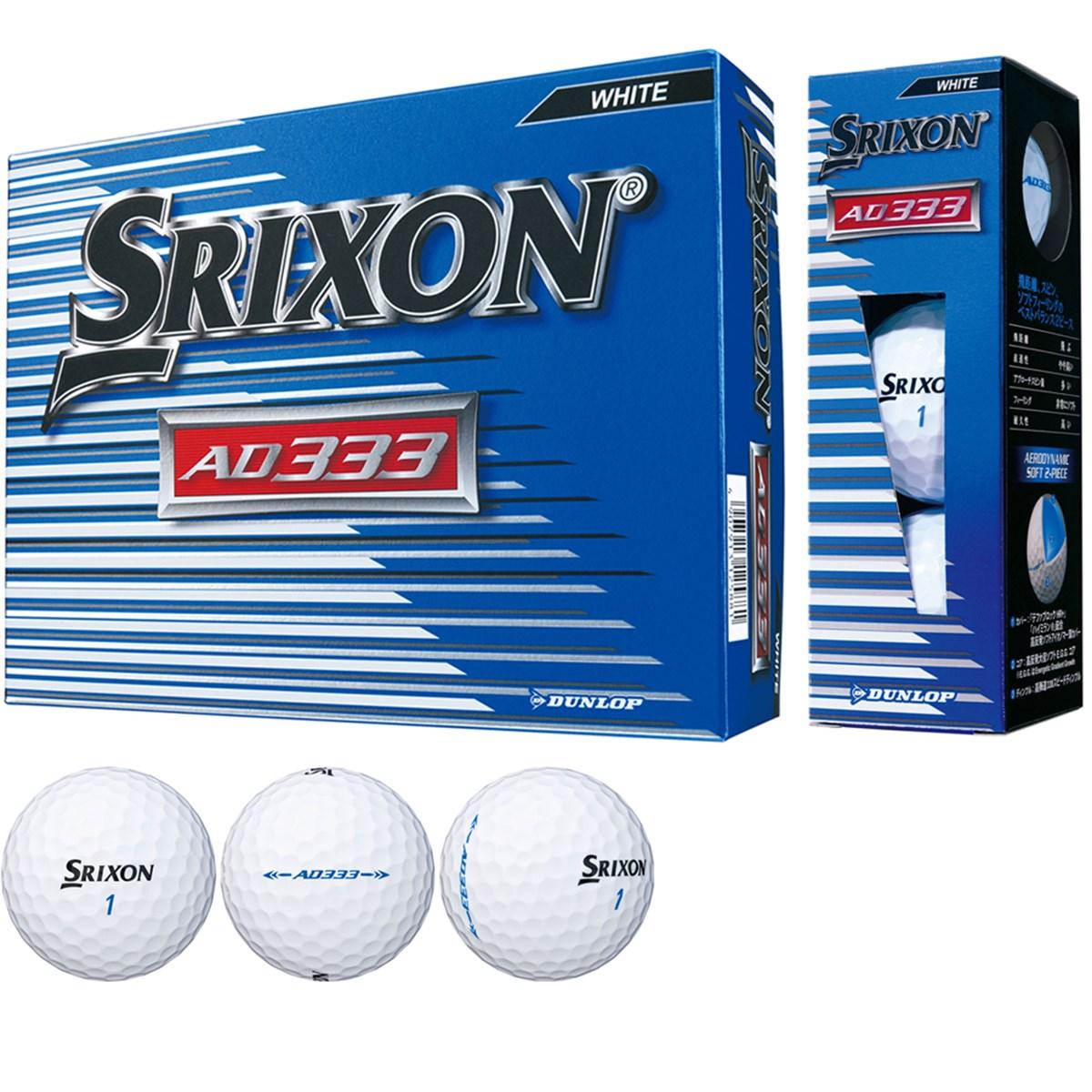 ダンロップ SRIXON スリクソン AD333-7 ボール 1ダース(12個入り) ホワイト