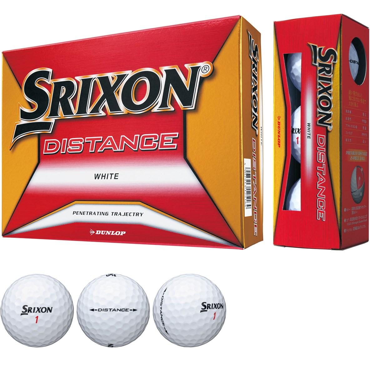 ダンロップ SRIXON スリクソン DISTANCE8 ボール 1ダース(12個入り) ホワイト