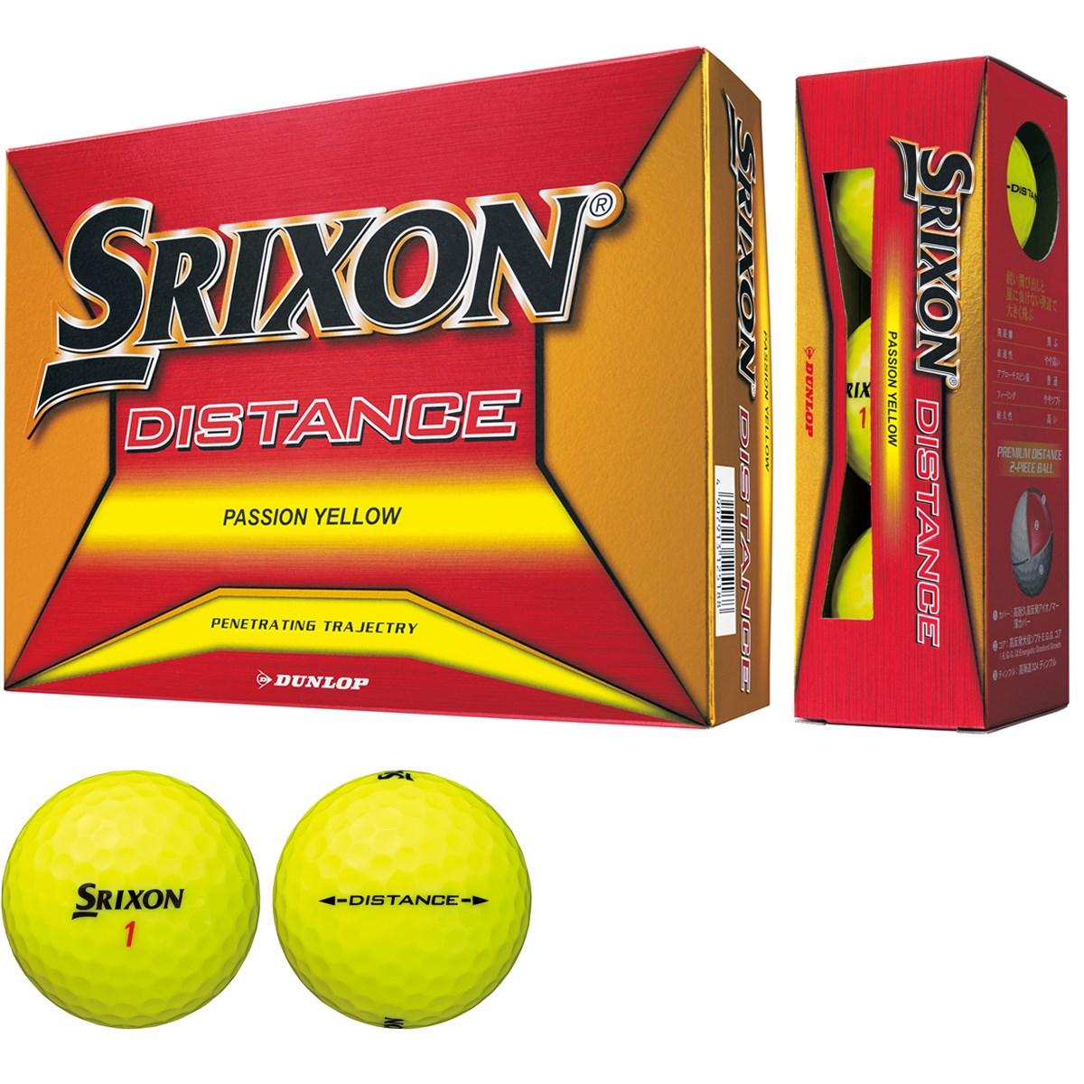 ダンロップ SRIXON スリクソン DISTANCE8 ボール 1ダース(12個入り) パッションイエロー