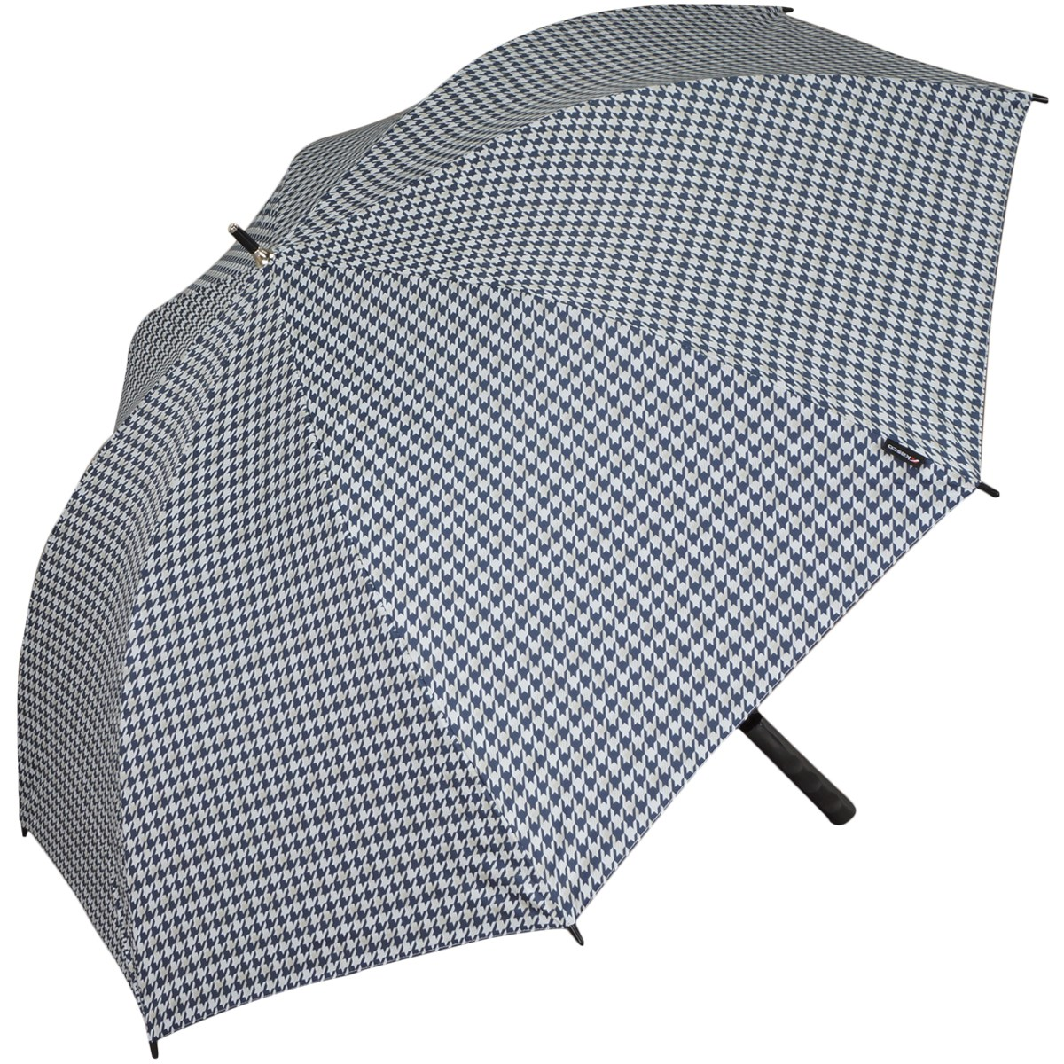 キャスコ KASCO 千鳥柄晴雨兼用ワンタッチ傘 ホワイト/ネイビー