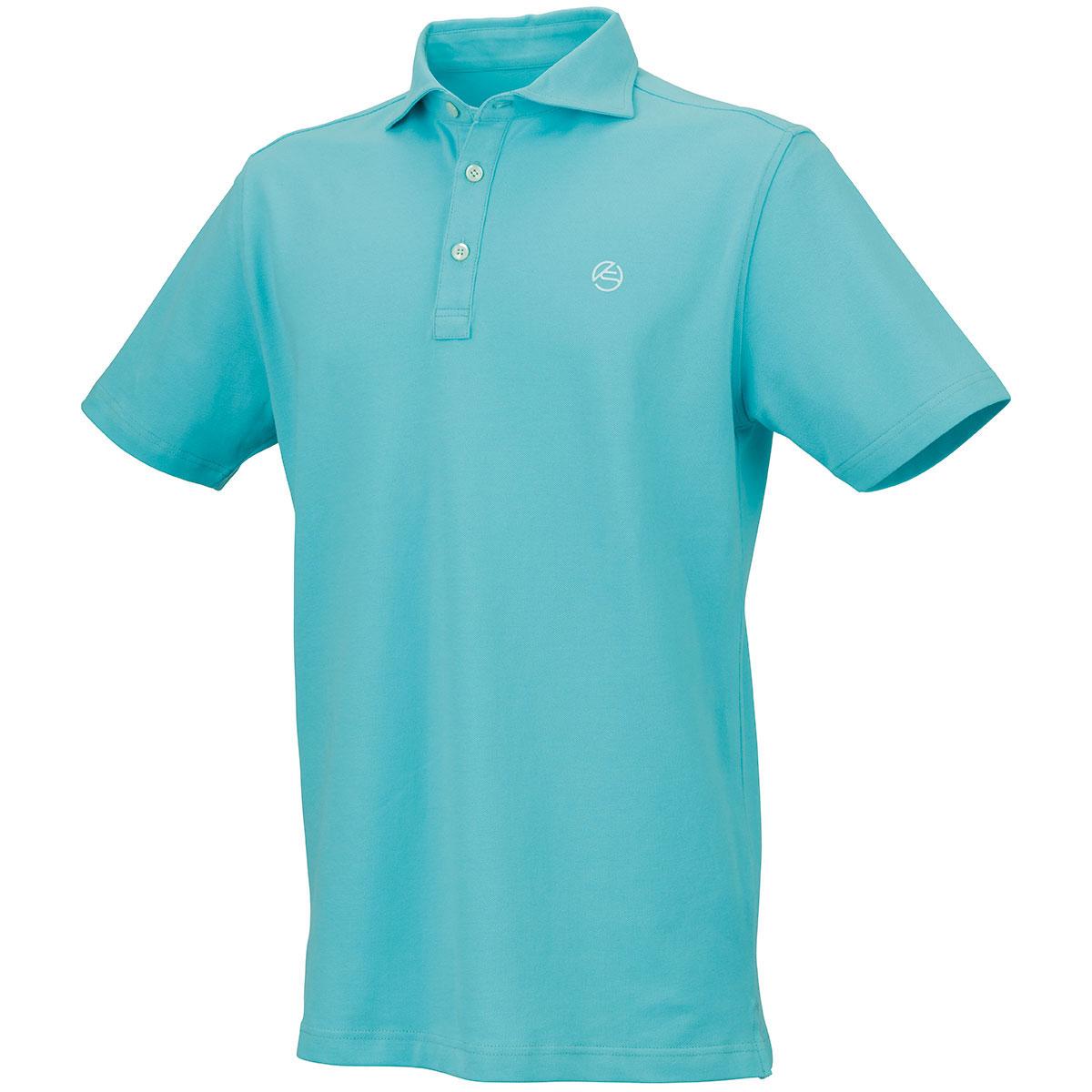 ストレッチ鹿の子 ホリゾンタルカラー半袖ポロシャツ