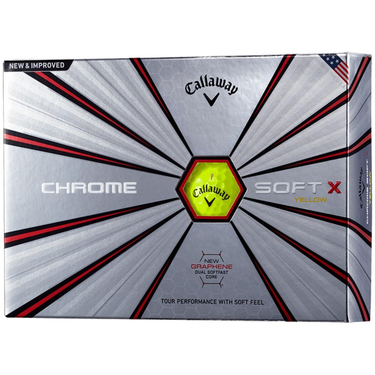 キャロウェイゴルフ CHROM SOFT CHROME SOFT X ボール 1ダース(12個入り) イエロー