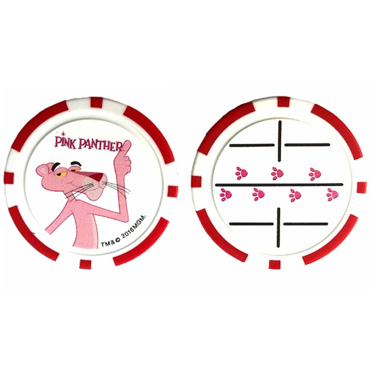 ライト Lite ピンクパンサー ゴルフチップマーカー レッド
