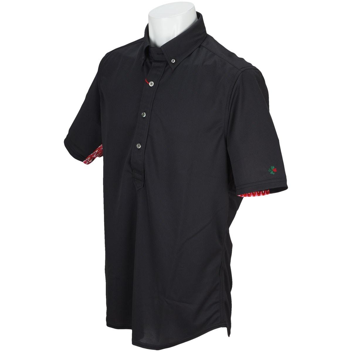 ブラッドシフト スリーブアレンジボタンダウン半袖ポロシャツ