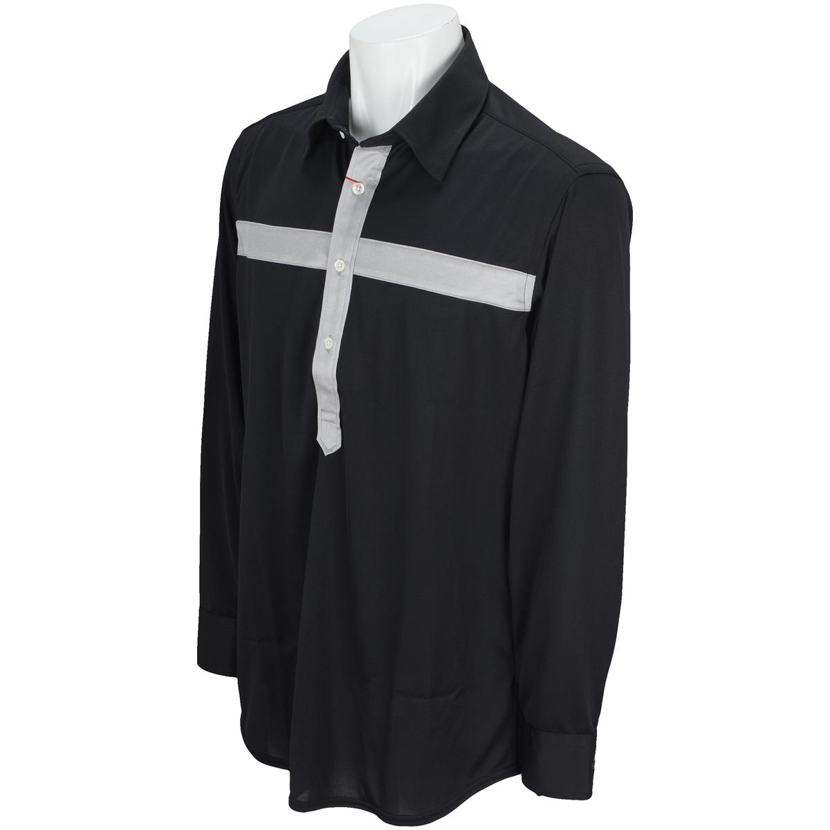 クロス長袖ポロシャツ