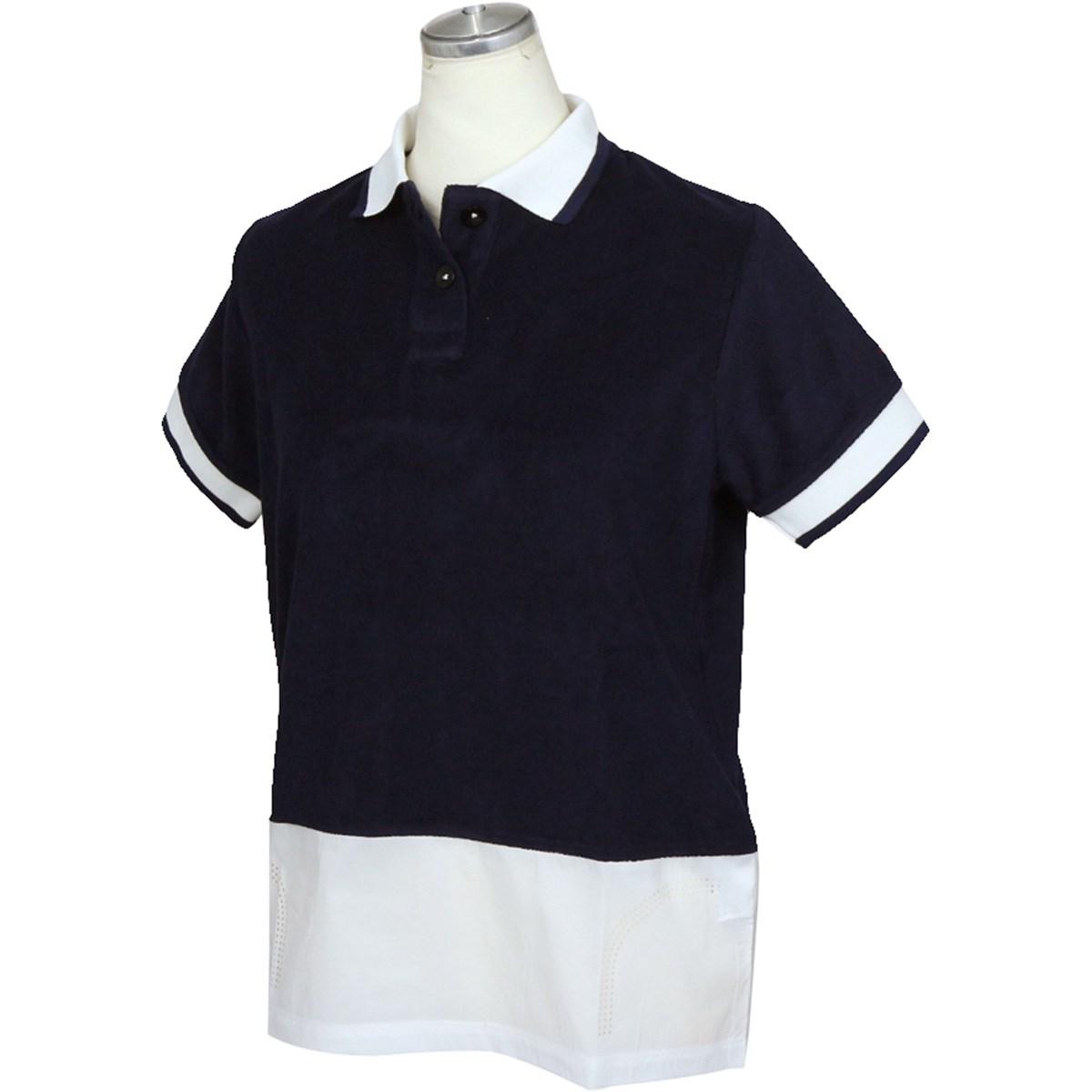 フィッチェゴルフ FICCE GOLF 半袖ポロシャツ S ネイビー レディス