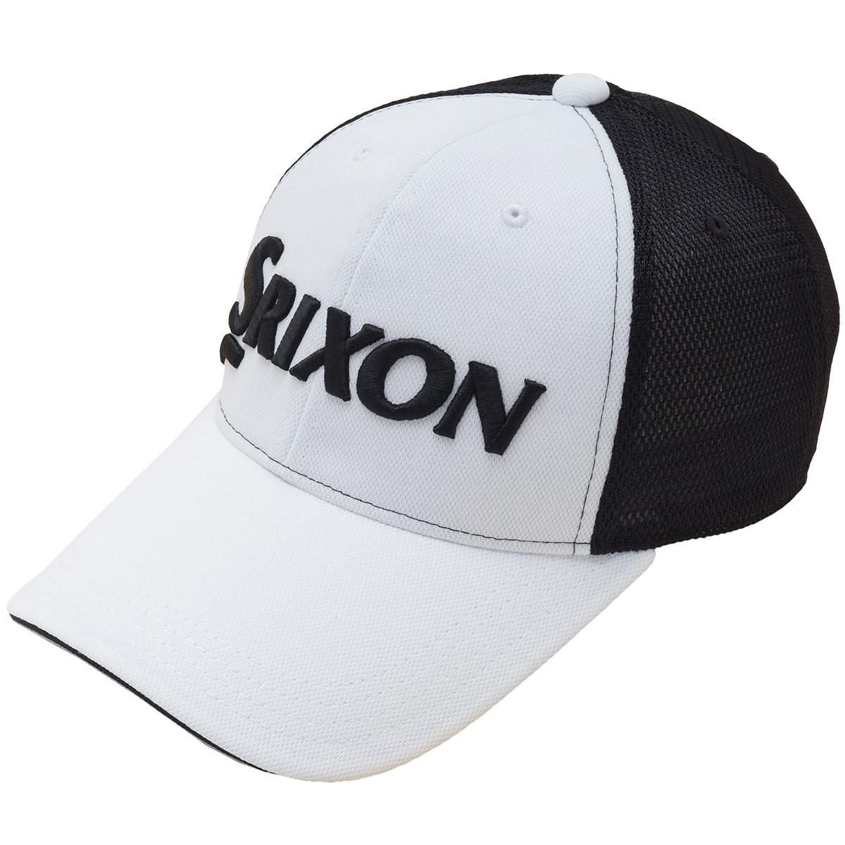 ダンロップ SRIXON メッシュキャップ フリー ホワイト/ブラック