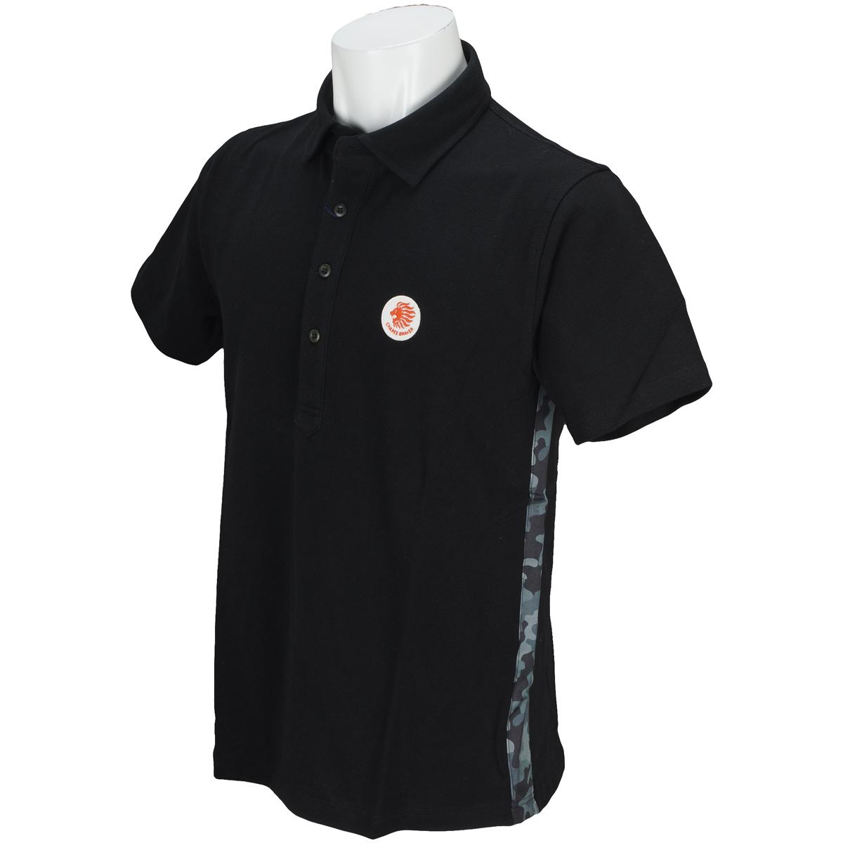カモフラ使い半袖ポロシャツ