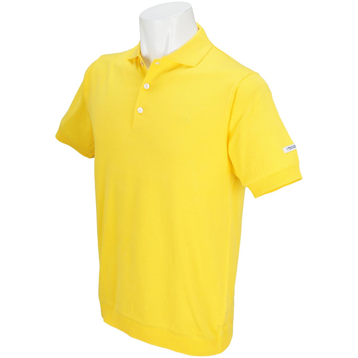 ニット スプレープリント半袖ポロシャツ