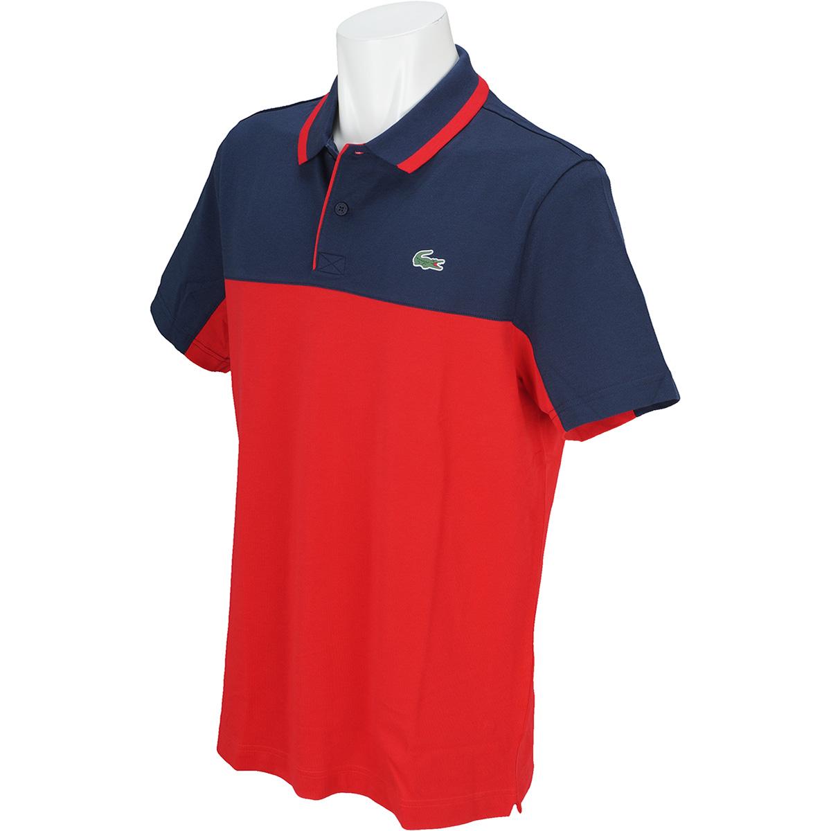 SPORT GOLF カラーブロック テクニカルプチピケ 半袖ポロシャツ