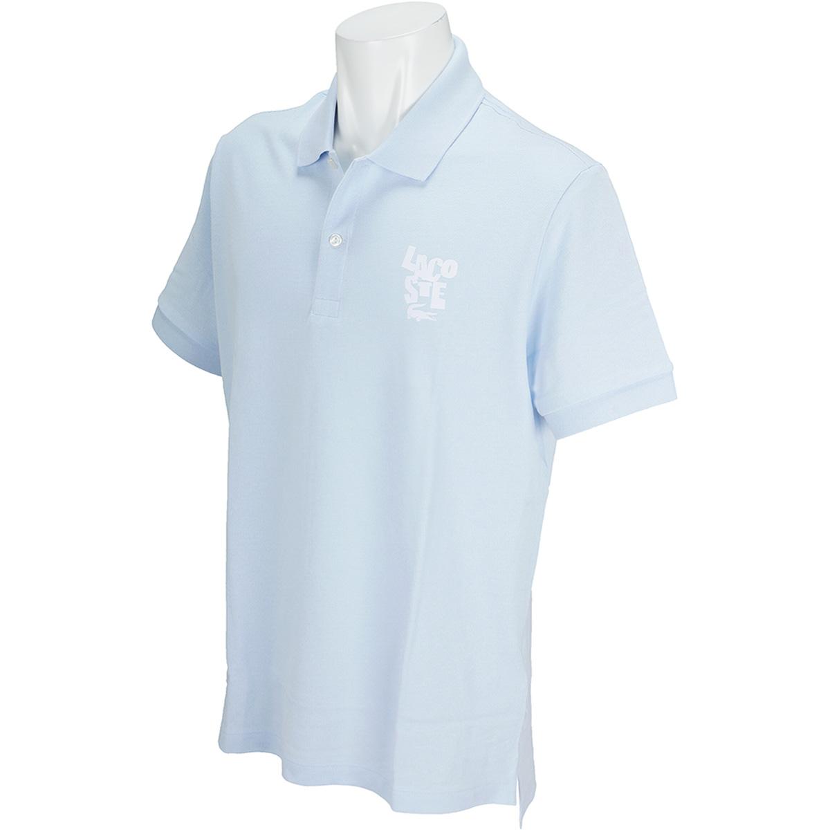 レギュラーフィット LACOSTEレタリング コットンプチピケ 半袖ポロシャツ