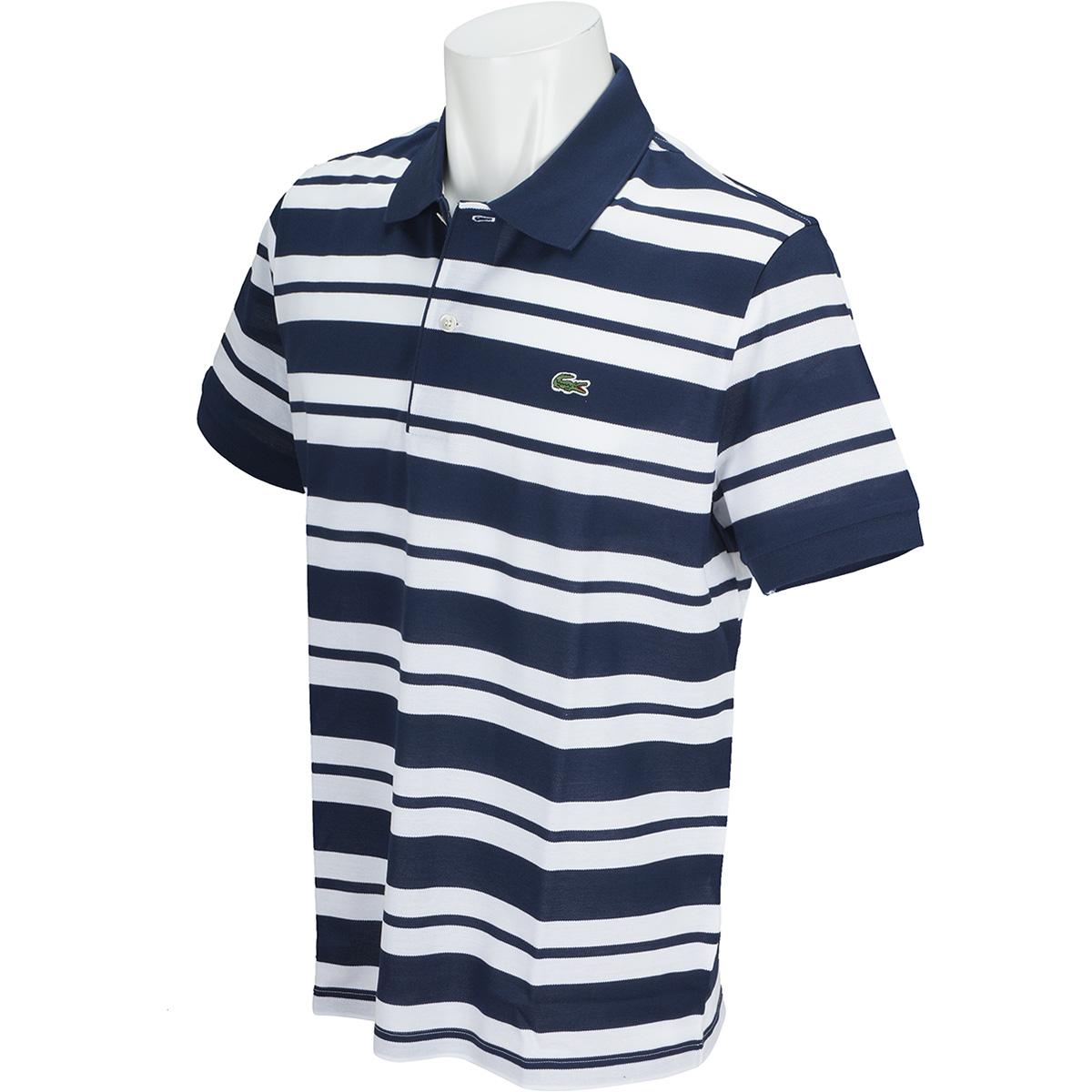 スリムフィット ボーダー 半袖ポロシャツ