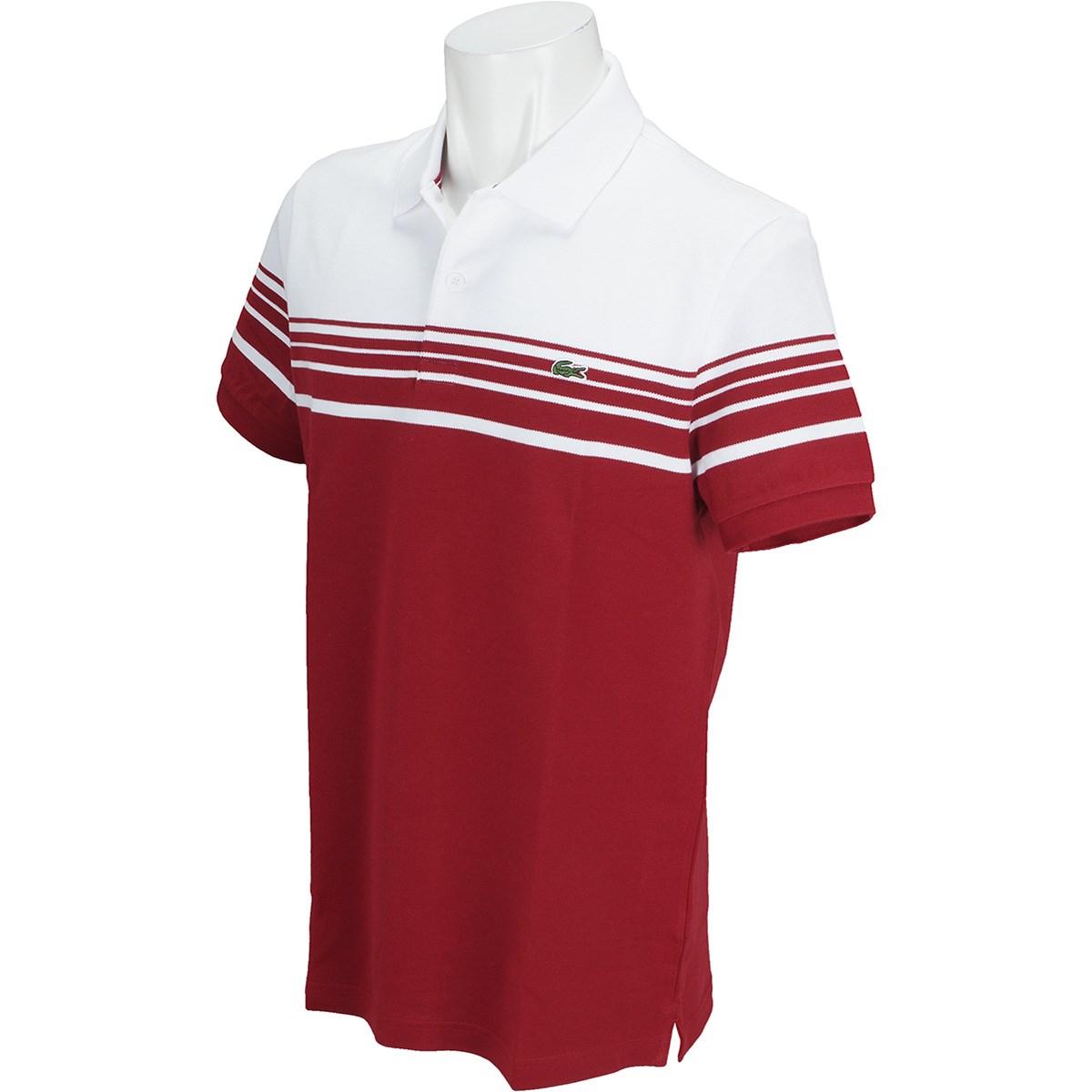 ラコステ スリムフィット ボーダー 半袖ポロシャツ
