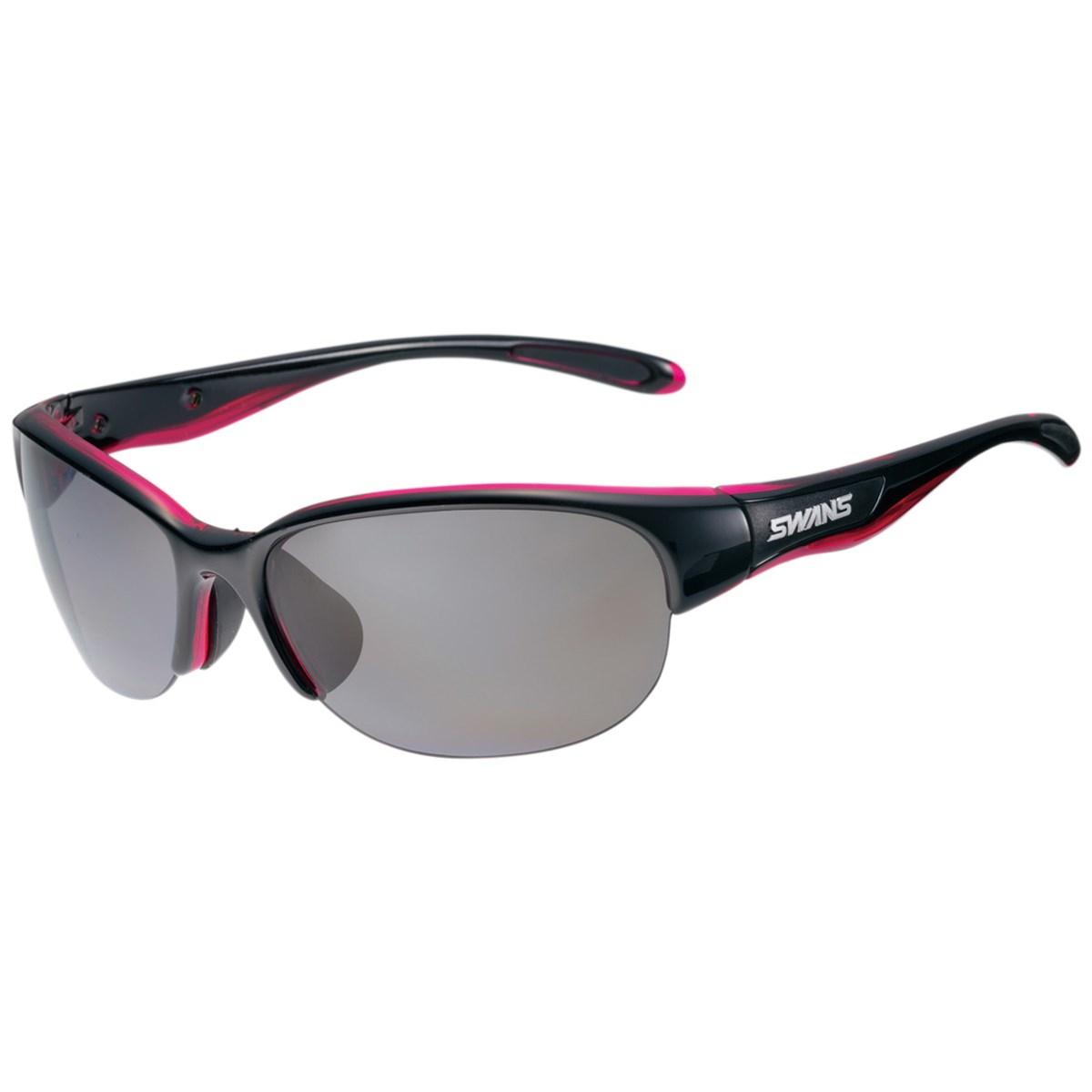 SWANS スワンズ 偏光レンズ スポーツサングラス ブラック/クリアピンク レディス