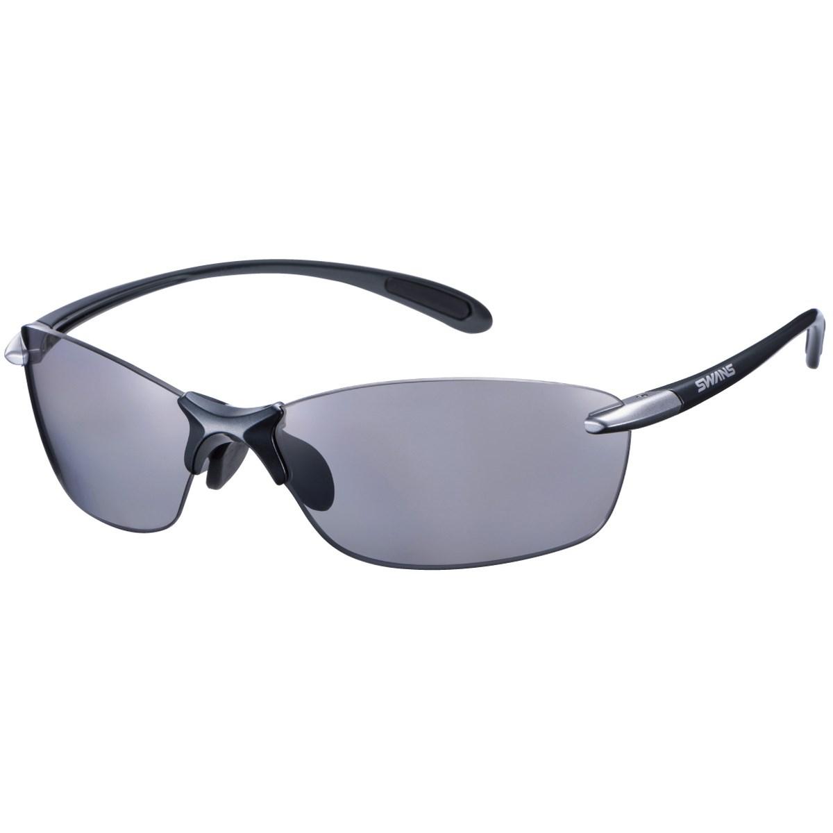 SWANS スワンズ 偏光レンズ スポーツサングラス ダークガンメタリック/ライトシルバー