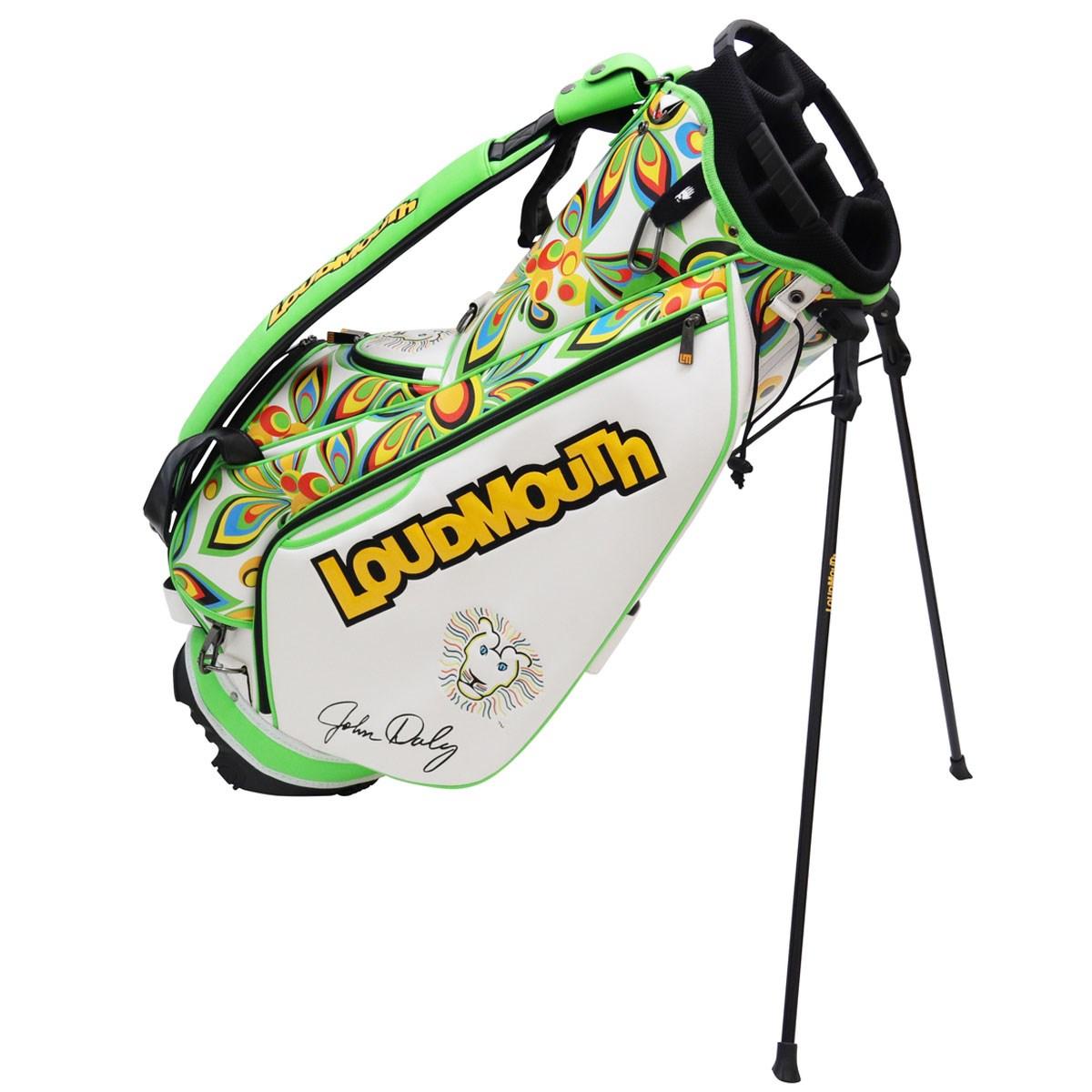 ラウドマウスゴルフ Loud Mouth Golf スタンドキャディバッグ シャガデリックホワイト 003