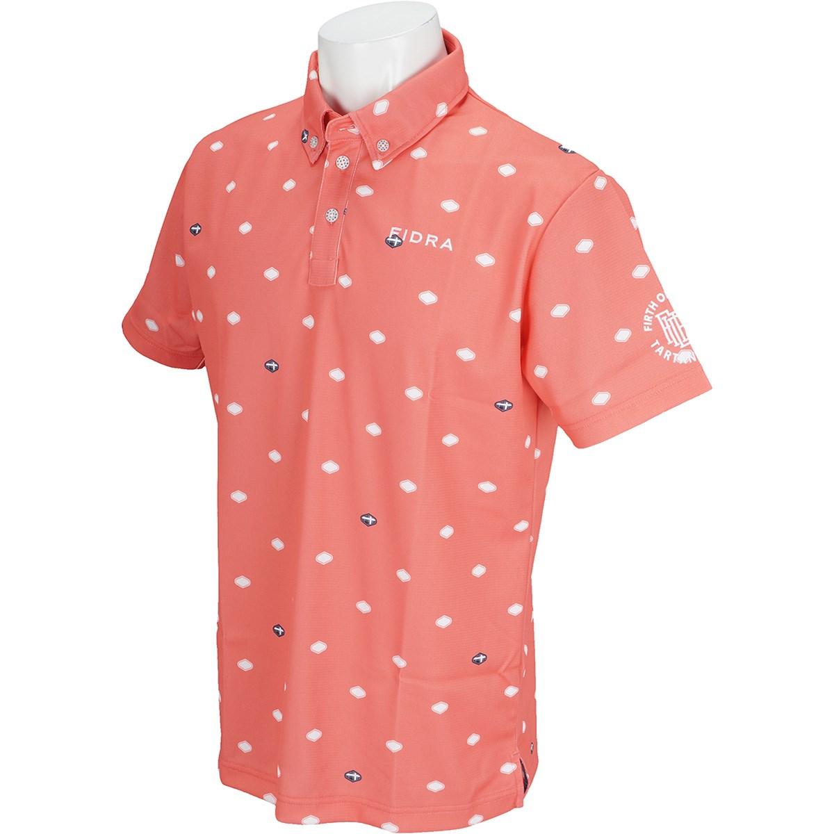 フィドラ シールドドット半袖ボタンダウンポロシャツ